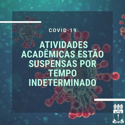 Ufal informa sobre a suspensão das atividades acadêmicas